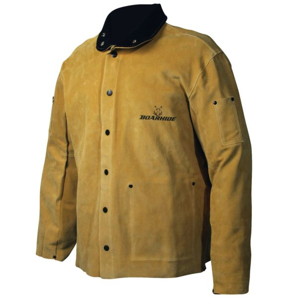 Caiman Gold Leather Jacket